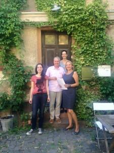 Das damalige Team der Agentur Copywrite: Caterina Kirsten, Georg Simader, Lisa Volpp - und rechts ich.